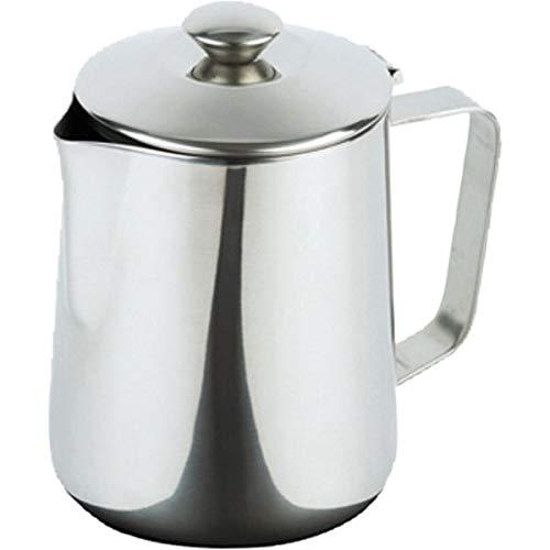 APS 10323 Edelstahl Kaffeekanne mit Klappdeckel, Ø 8 x 11, 5 cm 0.35 ltr.