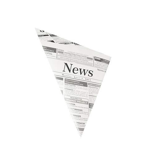 knusper.haus Pommes Frites - Spitztüten/Tüten Newspaper (27 x 19 x 19 cm / 125 Gramm - FETTDICHT) Menge FREI WÄHLBAR (100)