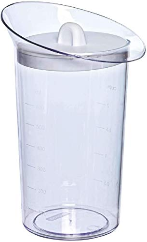 Toyma 49Y236 - Vaso Medidor 700 Ml Con Tapa Blanc