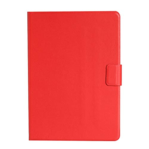 LMFULM Case for Lenovo Tab M10 TB-X605F (10.1 Inch) PU Leather Case Protective Shell Holster with Stand Case Flip Cover Red
