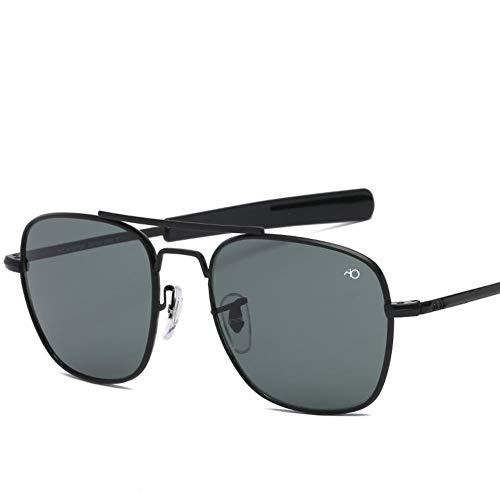 GZRUIGE Gafas de Sol para Hombre Gafas de Sol Hombre Lente de Vidrio óptico Militar del ejército Americano
