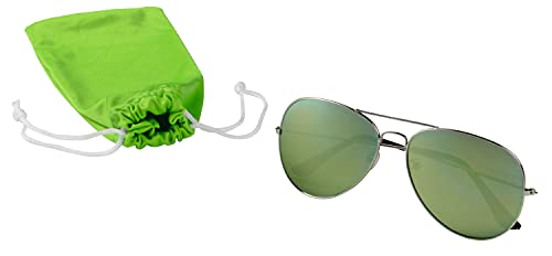 TOPICO Gafas de Sol Unisex Juvenil, Color Verde, 41 x 15 x 7 cm