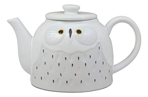 Whimsical Snow Owl Teapot