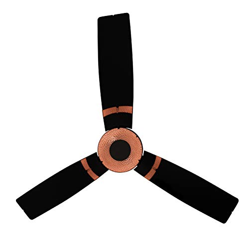 Luminous Jaipur Tamra 1200MM Designer Ceiling Fan for Home and Office with BEE 3-Star Rating and 40% Energy Saving (Abu Black)
