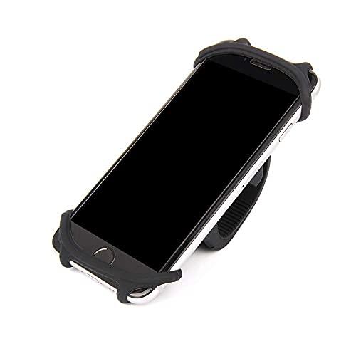 Soporte universal para teléfono móvil con soporte para teléfono en bicicleta, soporte universal para todos los manillares de bicicleta para iPhone 8, 7, 6, 5, serie Samsung, negro