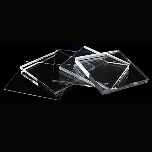 ZhengELE 10 mm Plexiglás Clear Acrylic Pondlex Hoja Plástico Tablero Transparente Perspeta...