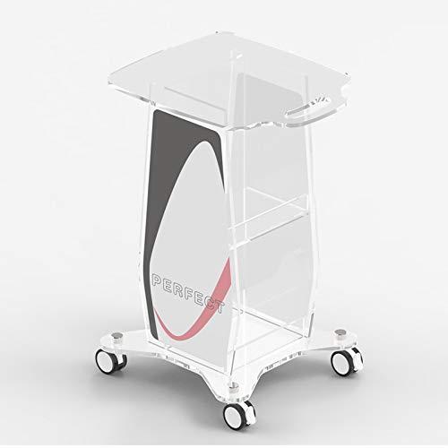 Dreischichtiger Acryl-Schönheitsausrüstungswagen, Integrierter Rollender Medizinischer Ausrüstungshalter Mit Bremse, Kleiner Blasenwagen Für Die Schönheitssalonklinik