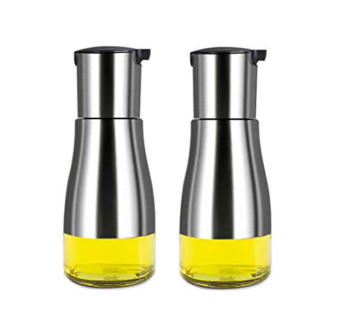 MHtech Botella de Aceite - utensilio de Cocina de Vidrio de Acero...
