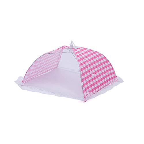 ZHOUBA Paraguas cuadrado de malla plegable a prueba de polvo para mesa...