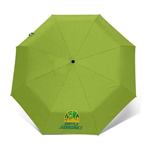 Supersonic Print Portable Windproof Compact Automatic Tri-fold Umbrella Auto Open/Close