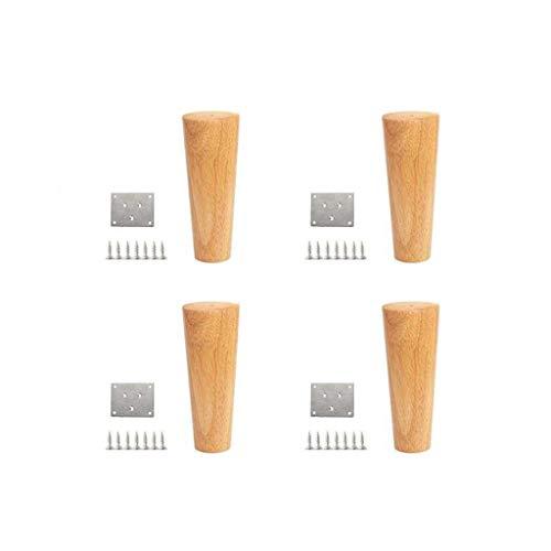 Furniture Feet 4X Massivholzmöbel Beine, Sofabeine, Kleiner Couchtisch, Kleiderschrank, TV-Schrank Stützbeine, Nachttisch Holzmöbel, erhöhte Kissen