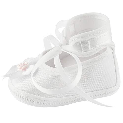 Toma Taufschuhe Baby Schuhe Leder Sandalen Taufe Junge Mädchen Lauflernschuhe Weiß Rose 10cm