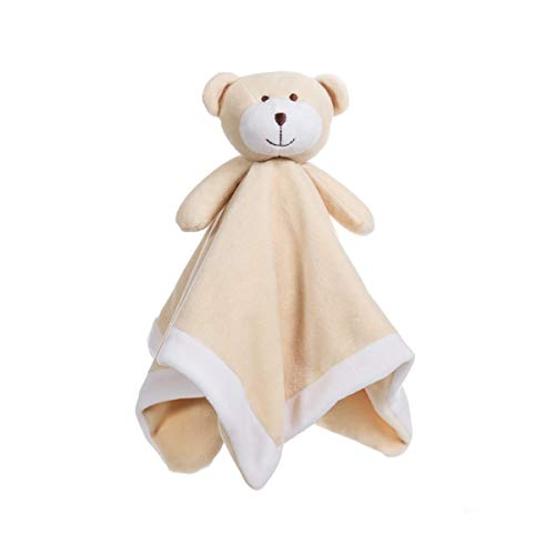 Apricot Lamb Luxury Snuggle Plush Teddy Bear Infant Stuffed Animals Security Blanket Nursery Character Blanket (Yellow Teddy Bear, 14 Inches)