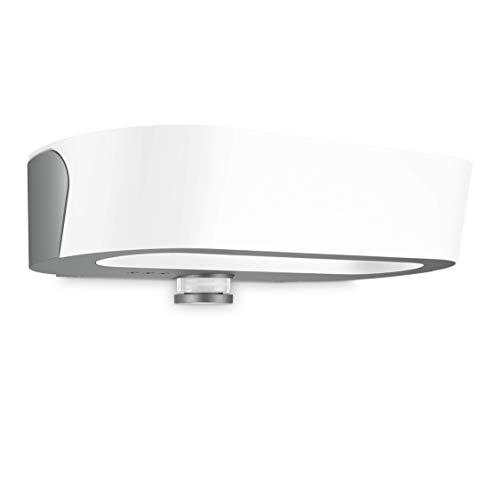 Steinel Außenleuchte L 710 LED Anthrazit 8.6 W Wandlampe mit Dämmerungsschalter, Nachtsparmodus, Softstart, Kunststoff