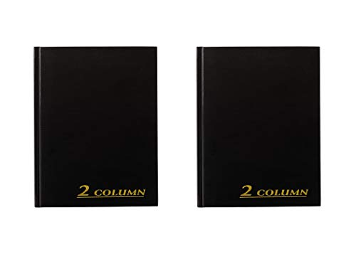 Adams Easy to Use Account Book, Black (ARB8002M), 2 Pack