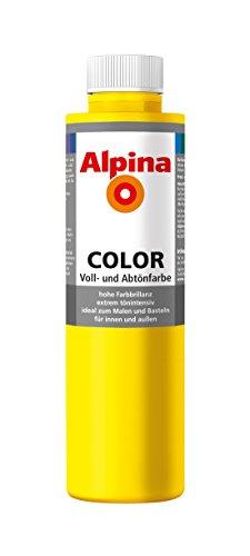 Alpina Farben Voll und Abtönfarbe Wandfarbe Alpina Color Farbton Sunny Yellow 750 ml