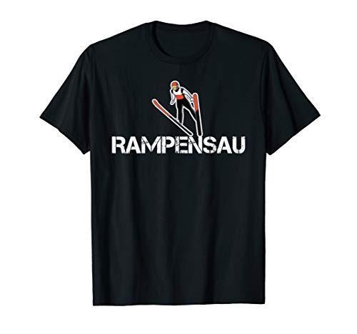 Rampensau Skispringer Skispringen Wintersportler Skifliegen T-Shirt