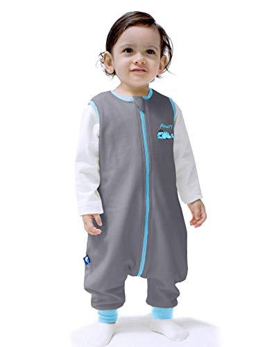 Sincere ilililmmoe - Saco de dormir para bebé, para bebé, primavera, otoño, cálido, saco de dormir con piernas, mantas de 6 meses a 4 años, Ballena pirata gris, L/3-4Years