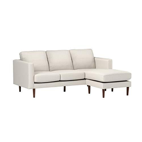 "Amazon Brand – Rivet Revolve Modern Upholstered Reversible Sectional Sofa Chaise Couch, 80""W, Linen"