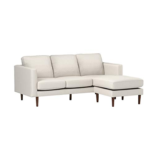 Rivet Revolve Modern Upholstered Reversible Sectional Sofa Chaise Couch, 80'W, Linen