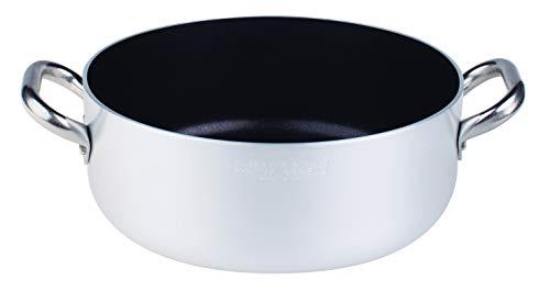 with 1 Handle Diameter 24 cm. Adherent Professional Platinum Saute Pan 5 Mm Pentole Agnelli Aluminium Anti