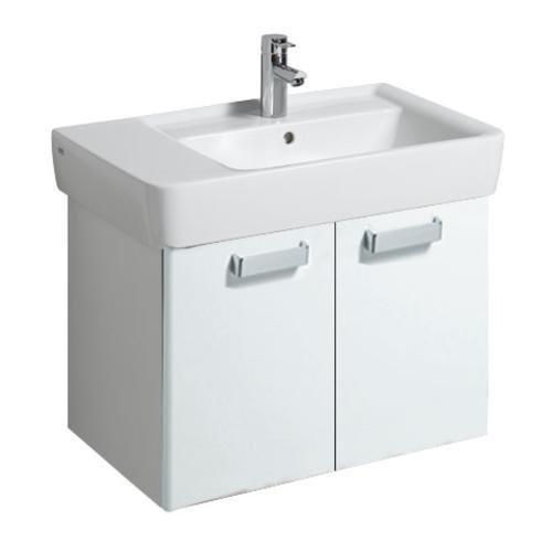 Keramag Waschbeckenunterschrank Renova Nr. 1 Plan 879140, 68x46,3cm x35cm Weiß/Weiß Hochglanz 879140