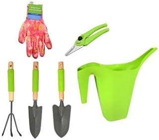 مجموعة أدوات للحدائق للسيدات من 6 قطع مجموعة أدوات أدوات مع قفازات البستنة ومشذب يدوي مزلاج زرع الري