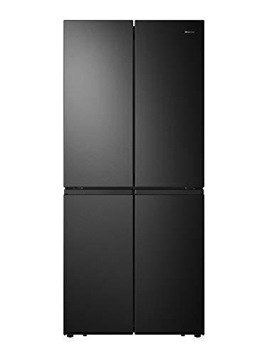 Hisense RQ563N4SF2 Cross Door Kühl-Gefrierkombination/ NoFrostPlus/ Inverter-Kompressor/ HolidayMode/ SuperCool/ 181 cm/ Kühlteil 294 l/ Gefrierteil 160 l/ 40 dB/ 279 kWh/Jahr/ Schwarz