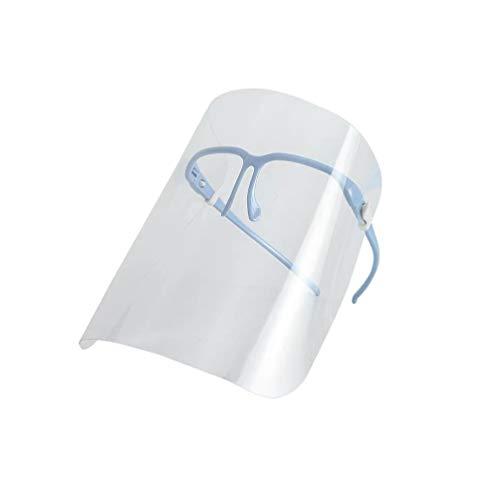 EXCEART Plastica Trasparente Visiera Facciale Anti-Nebbia Maschera da Cucina Occhiali Antispruzzo Occhiali Protettivi Maschera Protettiva per Uso Quotidiano in Laboratorio Lavoro (Blu)