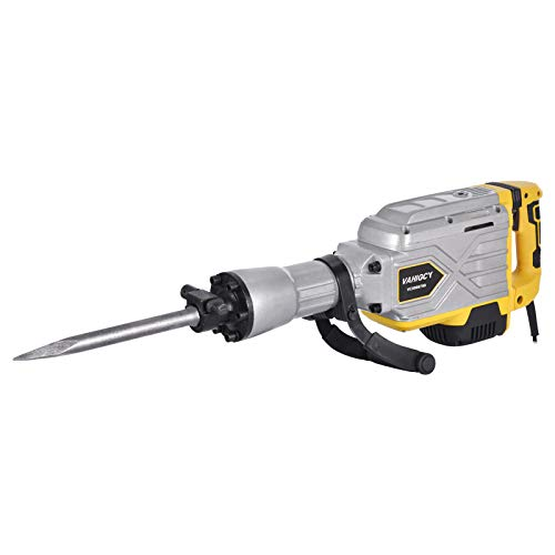 FACAIMO SDS-Plus Rotary Hammer Drill with Vibration Control and Safety Clutch,Electric Hammer Demolition Hammer Drill Concrete Breaker, 2300W 110V Heavy Duty Demolition Hammer Ideal for Concrete