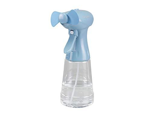 BEPER P206VEN440 Mini nebulizador, Tanque de 350 ml, ABS / PET, Paletas de EVA suave, Función de Pulverización y Nebulizador, Funciona con pilas, Azul Claro
