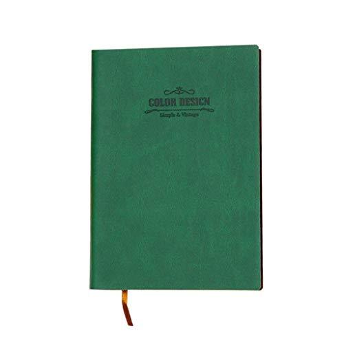 JIALI portátil LF Simple espesarse Exquisito Estudio Bloc de Notas Oficina Diario Ordenar (Color: Gris, Tamaño: 10.2 * 14.5cm) (Color: Verde, Tamaño: 10.2 * 14.5cm)