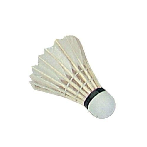 Sunflex Sport Badminton-Bälle ECHTFEDER Weiss, 3er Packung