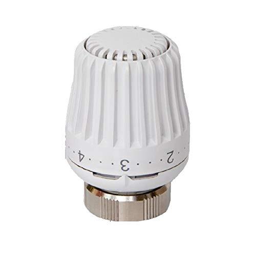 Válvulas para radiadores – Válvula termostática con cabezal termostático con sensor integrado para radiadores con conexiones M30 x 1.5, Corsa de cierre 11,8-12, blanco