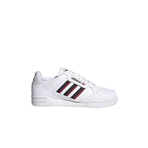 adidas Continental 80 Stripes, Zapatillas, Cloud White/Collegiate Navy/Vivid Red, 38 2/3 EU