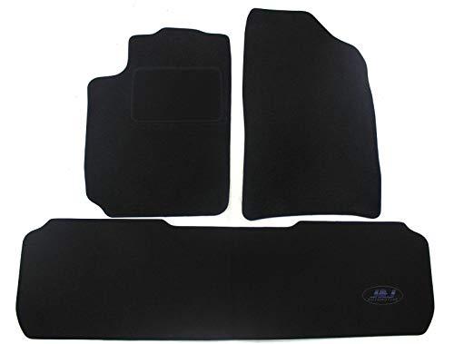 J&J AUTOMOTIVE | Tapis DE Sol Noir Velours Compatible avec Citroen XSARA Picasso 3 pcs