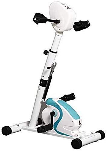 Ejercitador De Pedal para Brazos Y Piernas con Pantalla Y Ajuste De Resistencia Mini Bicicleta Estática para Interiores Fitness Ciclismo Resistencia Ajustable para Interiores O Exteriores