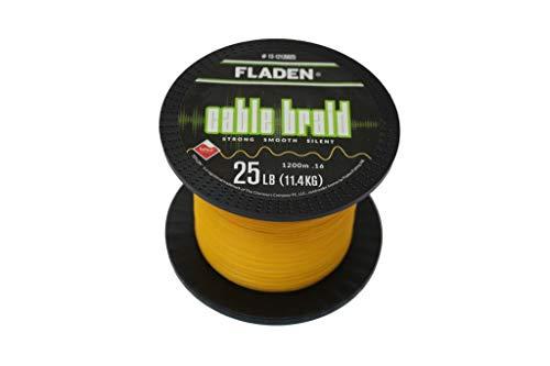 Fladen Maxximus Cable Braid, 1200 m, corda intrecciata, nero o giallo, diametro 0,10-0,30 mm, portata 5,4 kg (12lb) – 22,7 kg (50lb) (giallo – 0,16 mm – 11,4 kg – 25 lb, 1200)