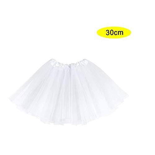 LEMON TREE SL Ballet Rok, witte dames, minirok, dans accessoire, maat 30 cm, wit.