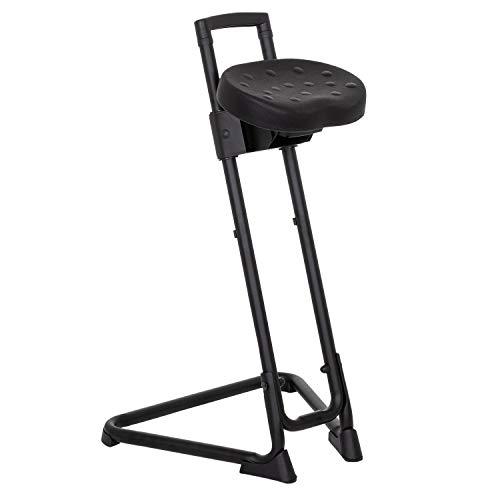 hjh OFFICE 830010 Silla de Trabajo Top Work 32 Espuma Duro Negro Bastidor metálico Estable Asiento inclinable