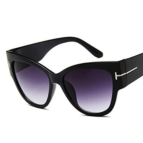 N/A Gafas de sol para Hombre Gafas de sol para Mujer Nueva moda ojo de gato mujeres gafas de sol mujer gradiente puntos gafas de sol grandes gafas femeninas UV400