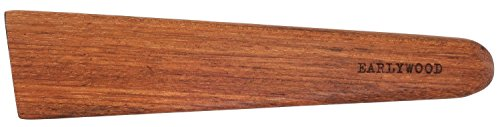 Earlywood 10 inch Handmade Wood Cooking Utensil for Kitchen, Multi-Purpose Wood Scraper and Egg Turner, Cast Iron Scraper and Wood Saute Spatula - Made in USA - Jatoba