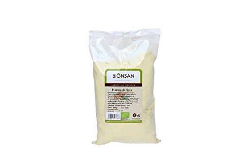 Bionsan Harina de Soja Ecológica No Tostada - 4 Bolsas de