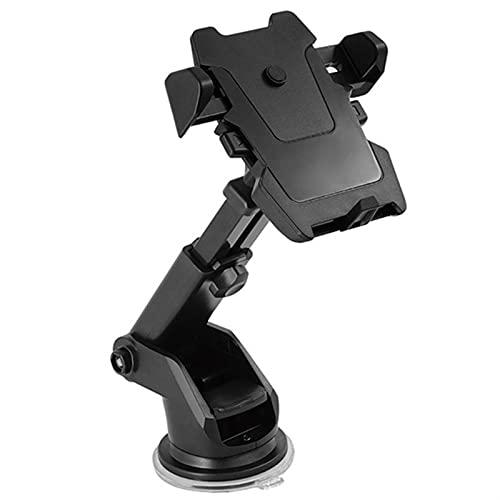 360 grados Universal Smartphone Soporte de montaje en automóvil Montaje de teléfono ajustable Soporte de succión Universal multifuncional (Color : Black)