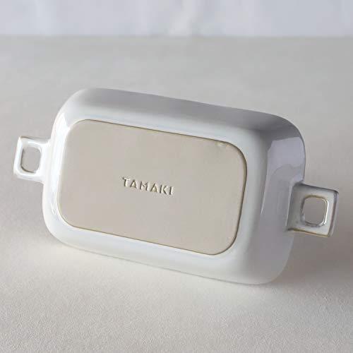 TAMAKIHINATAグラタン皿レクタングルハンドルホワイト23×12.5×4.2cm電子レンジ・食洗機・オーブン対応T-932117