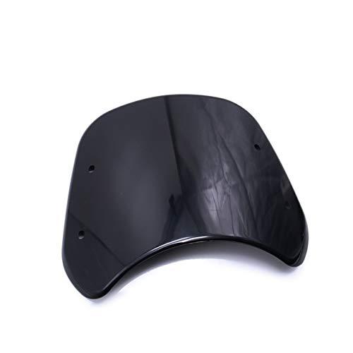 SY-DFBL, Clásico ajuste parabrisas de la motocicleta de Qianjiang Benelli Cub 250 500 Moto duradero Deflector de viento Scooter Moto retro del parabrisas (Color : Black)