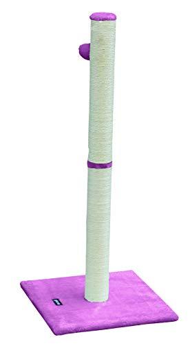 Gloria -Rascador para Gatos - Juguete para Gatos - Árbol para Gatos - Modelo Rin - 36 x 81.5 x 36 cm - Color Rosa - Poste Forrado en Sisal - Plataforma en Felpa - Accesorio con Pelota para Juego