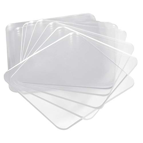 MauSong 10 Super Sticky Silicone Gel Pads Clear, Gel Pads Auto Gel Holders, Double Sided Paste, Transparent Pads (Medium,Transparent)