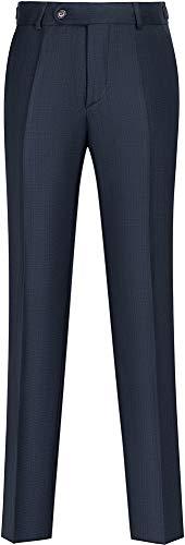 STENSER B85A Jungen Anzughose Schuluniform Elastische Taille, Marineblau, 140 S (Label 32/140)