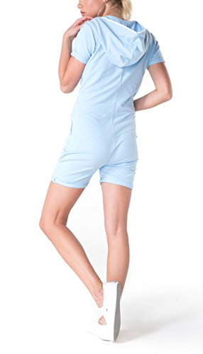 OnePiece Damen Jumpsuit Short Fitted, Blau (Soft Blue) - 2